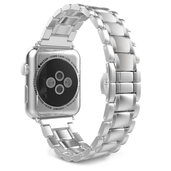 Stainless Steel Apple Watch Strap Full Silver