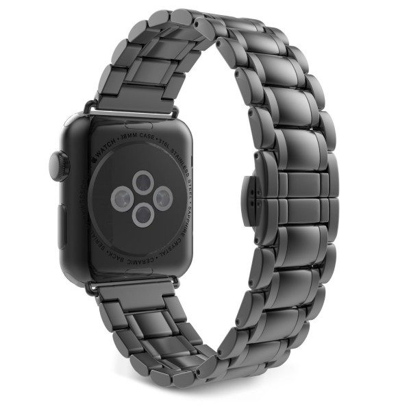 Stainless Steel Apple Watch Strap Full Black