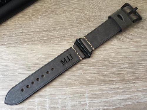 Personalized Leather Apple Watch Band photo review
