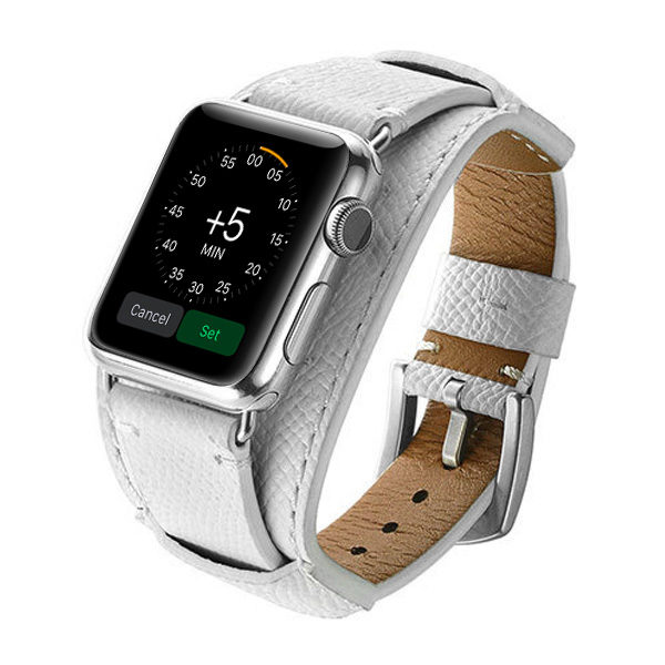 White Apple Watch Band Cuff