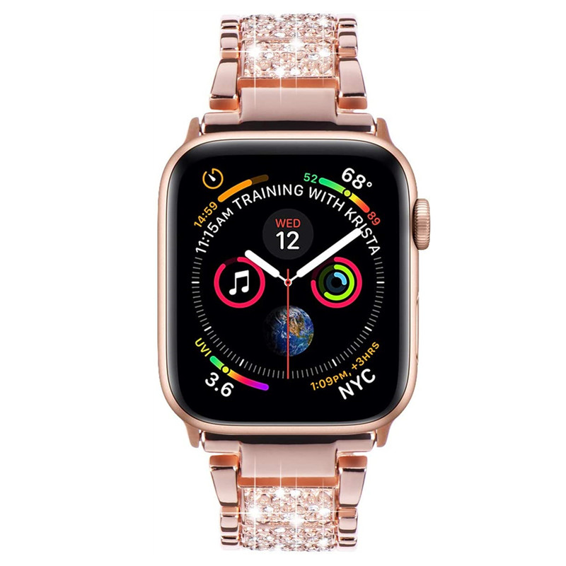 Rose Gold Crystal Apple Watch Strap